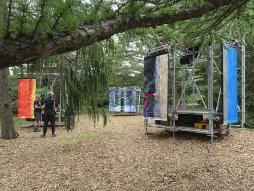 photo of installation bois eau métal